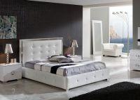 Мебель для спальни белый глянец9
