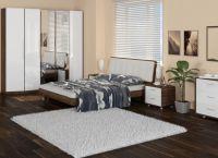 Мебель для спальни белый глянец1
