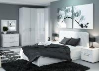 Мебель для спальни белый глянец2