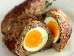 зразы мясные с перепелиным яйцом