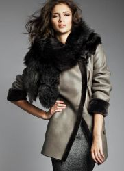 Модные дубленки зима 2016