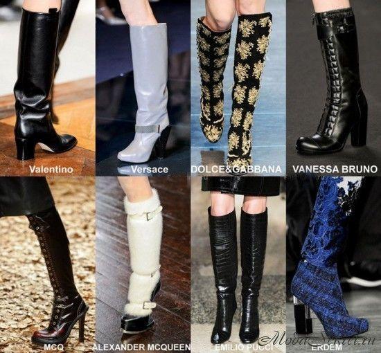 Модные сапоги осень-зима 2014-2015