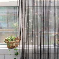 Нитяные шторы в интерьере1