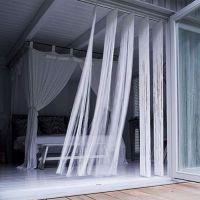 Нитяные шторы в интерьере3