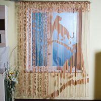Нитяные шторы в интерьере5