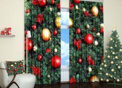 Новогодние шторы