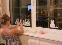 Новогодние украшения на окна10