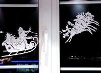 Новогодние украшения на окна11