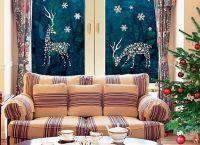 Новогодние украшения на окна1