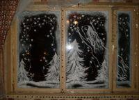 Новогодние украшения на окна2