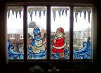 Новогодние украшения на окна3