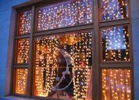 Новогодние украшения на окна7