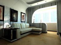 Объединение балкона с комнатой7
