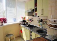 объединение кухни и лоджии 8