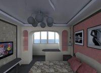 Объединение лоджии и комнаты5
