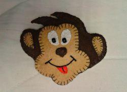 обезьянка магнит из фетра