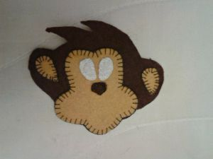 обезьянка магнит из фетра 9