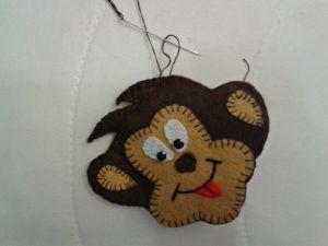 обезьянка магнит из фетра 12