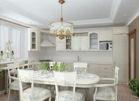 Оформление кухни в частном доме9