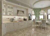Оформление кухни в частном доме1