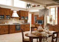 Оформление кухни в частном доме2