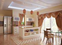 Оформление кухни в частном доме5