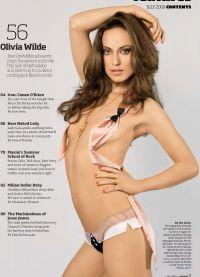 Оливия Уайлд на одной из страниц журнала Максим