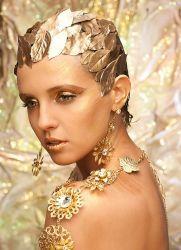 осенняя вечеринка золотой макияж
