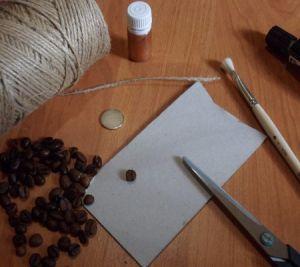 овечки из кофейных зерен1