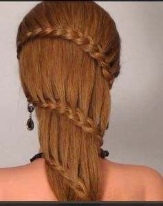 Плетение французской косы в форме спиральки
