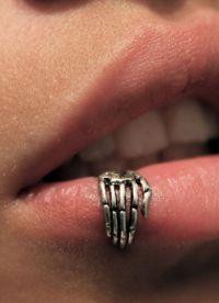 прокол верхней губы 4