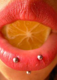 прокол верхней губы 5