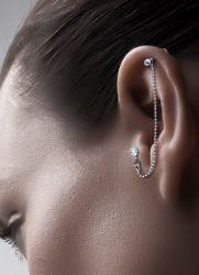 Прокол хряща уха