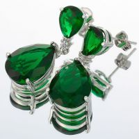 Srebrne naušnice sa smaragda 2