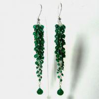 Srebrne naušnice sa smaragda 3