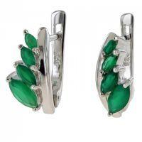 Srebrne naušnice sa smaragda 4