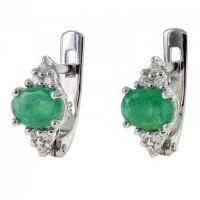 Srebrne naušnice sa smaragda 6