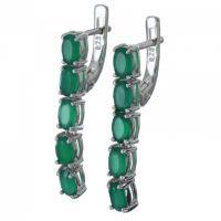 Srebrne naušnice sa smaragda 5