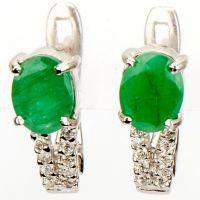 Srebrne naušnice sa smaragda 8