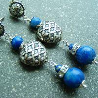 Srebrne naušnice s kamenjem 4