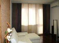 Шторы в гостиную с балконом (2)