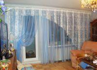 Шторы в гостиную с балконом (6)