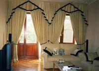 Шторы в гостиную с балконом (8)