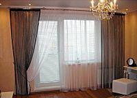 Шторы на окно с балконной дверью 8