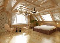 Шторы в деревянном доме10