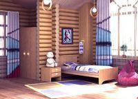 Шторы в деревянном доме4