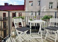 Складной столик на балкон1