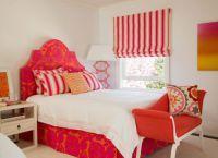 Сочетание красно-белого цвета в интерьере спальни -1