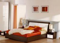 Сочетание оранжевого цвета в спальне -2