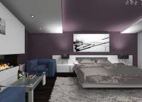 Спальня в фиолетовых тонах8